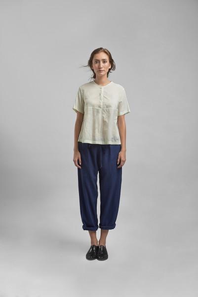 Modern Sheer Shirt & Drawstring Resort Pant