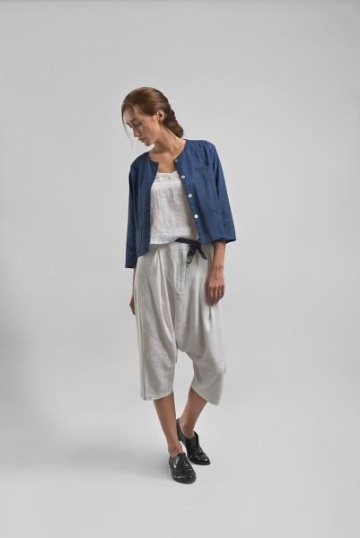 Linen Crop Jacket