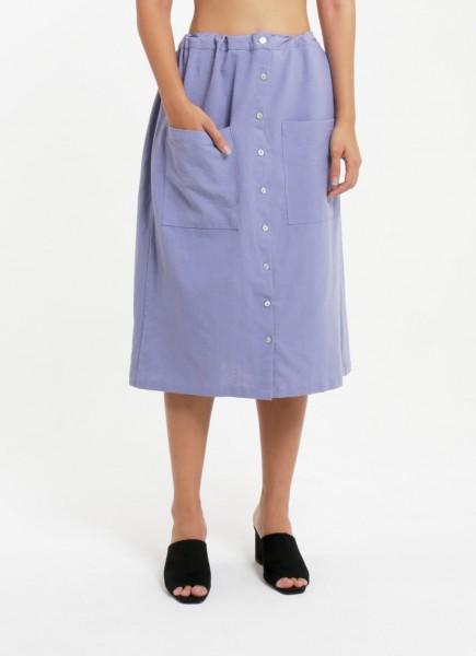 Drawstring Tube Skirt Serenity Blue